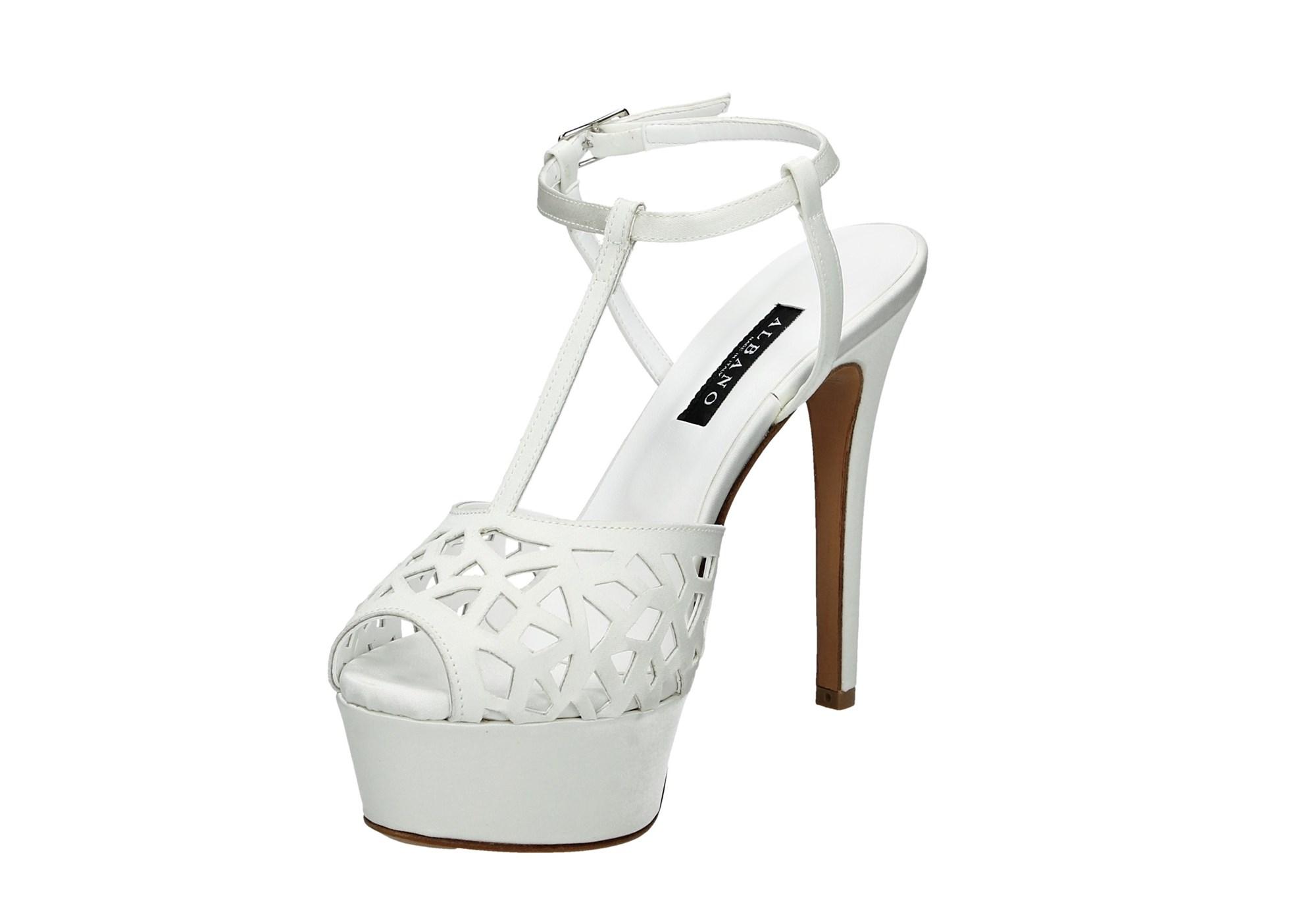 Donna Calzature Sandalo Bianco D1737 Principe Albano 8xqcIt0wvW